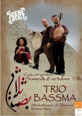 affiche bassma 275x389 Le Trio Bassma en concert  Dcines